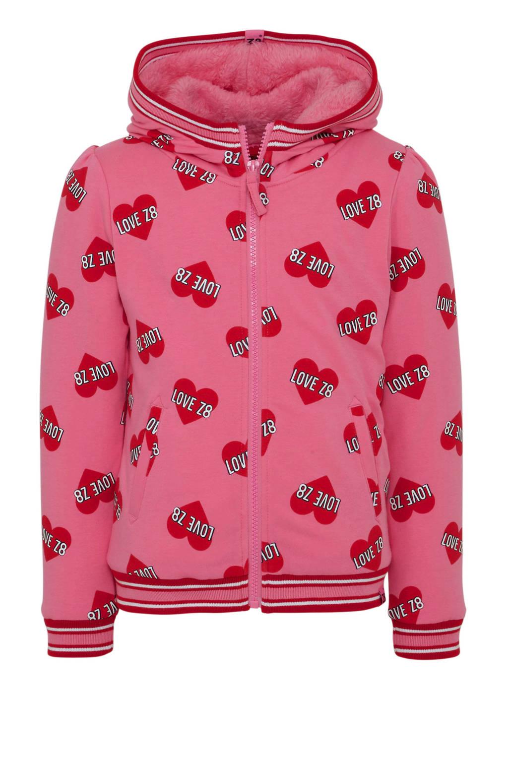 Z8 borgvest Yolanthe met hartjes roze, Roze