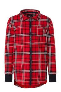 Z8 geruit overhemd Baas rood, Rood