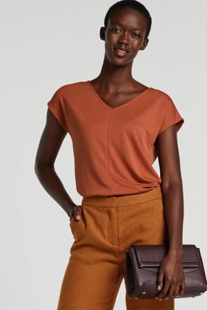 T-shirt Aretha roodbruin
