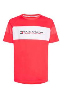 Tommy Hilfiger Sport   T-shirt rood, Rood/wit