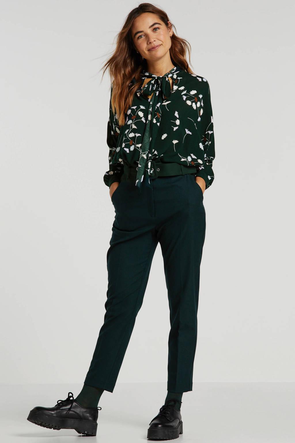 EDITED gebloemde blouse Lesly donkergroen, Donkergroen