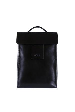 MY HOME BAG leren rugzak My Home Bag zwart
