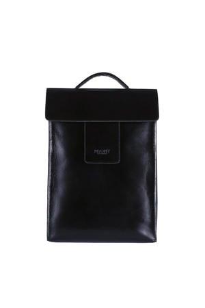 MY HOME BAG  leren rugzak zwart