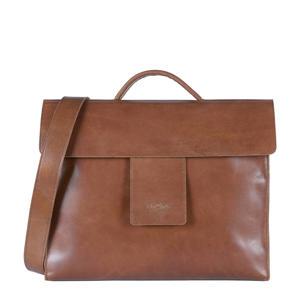 MY HOME BAG leren handtas bruin