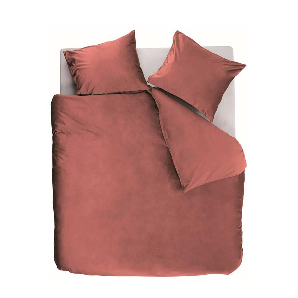 At Home katoenen dekbedovertrek 2 persoons, 2 persoons (200 cm breed), donker roze