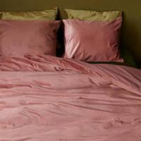 Beddinghouse Velours dekbedovertrek lits-jumeaux, donker roze, Lits-jumeaux (240 cm breed)