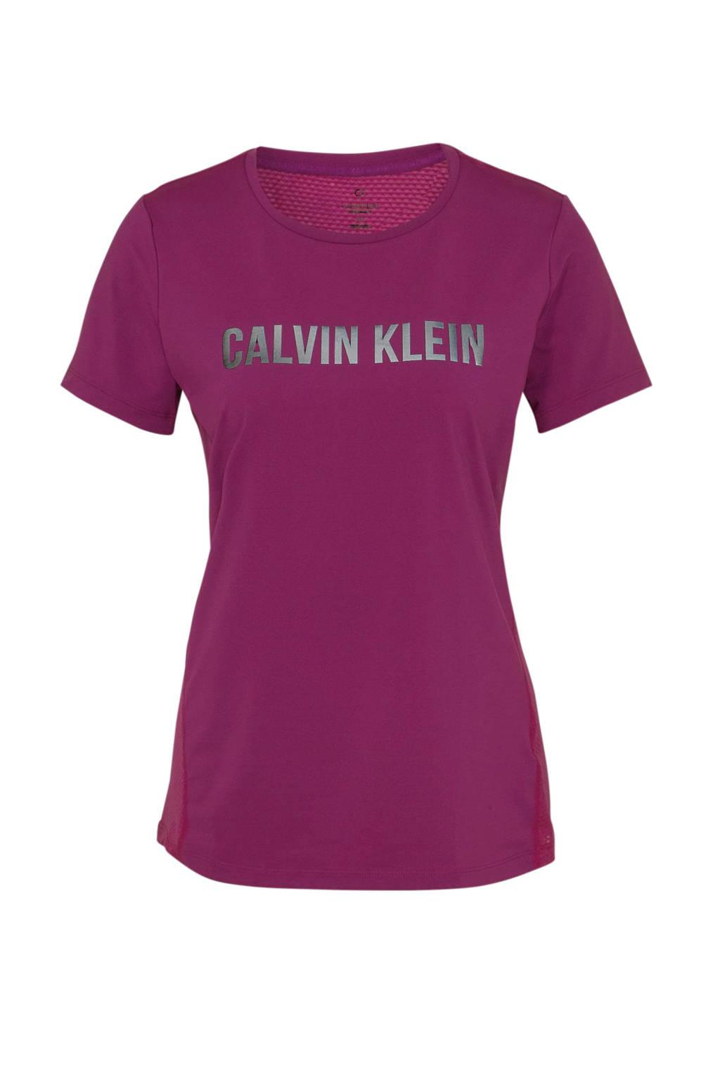 CALVIN KLEIN PERFORMANCE sport T-shirt paars, Paars