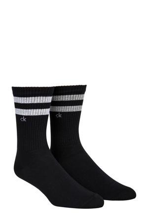 gestreepte sokken zwart (2 paar)