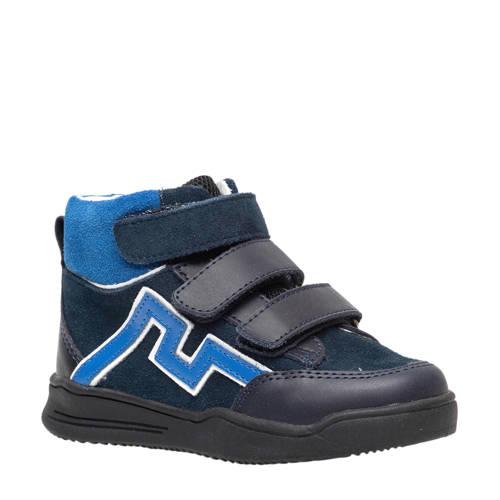 Scapino Groot leren sneakers zwart/blauw