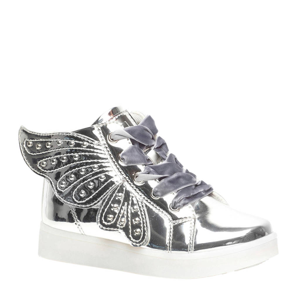 Scapino Blue Box   sneakers met lichtjes zilver, Zilver