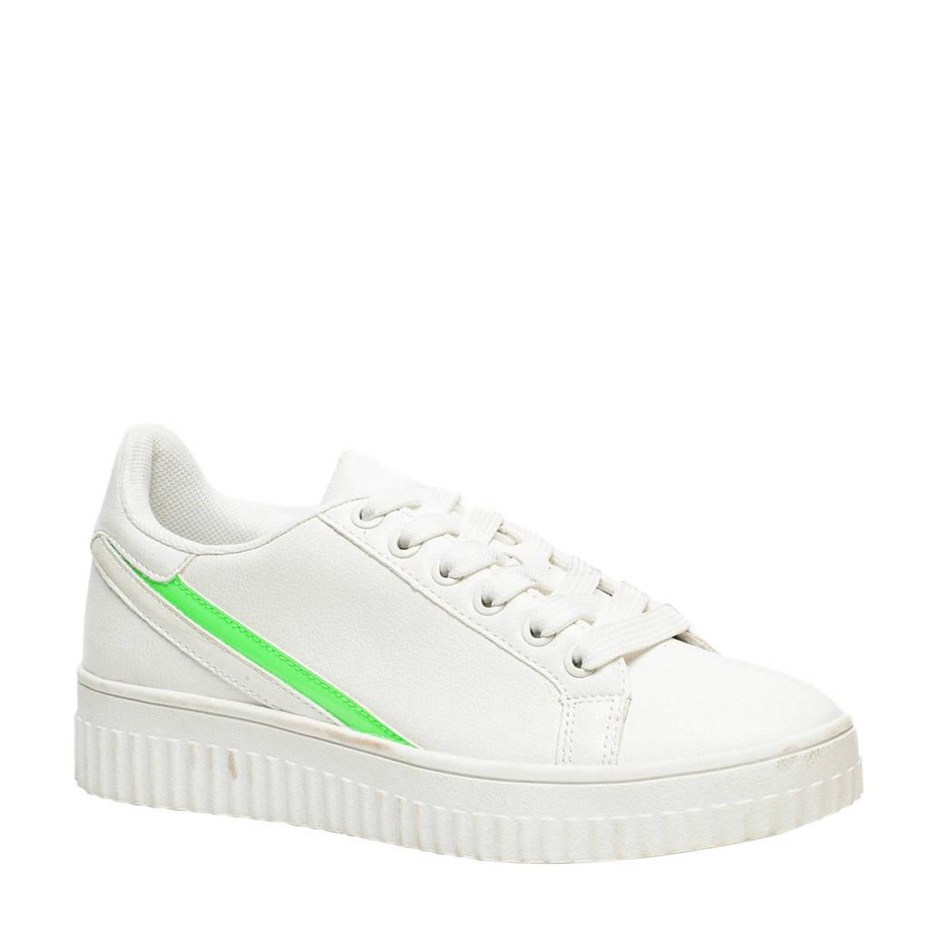 Scapino Blue Box   sneakers wit/groen, Wit/groen