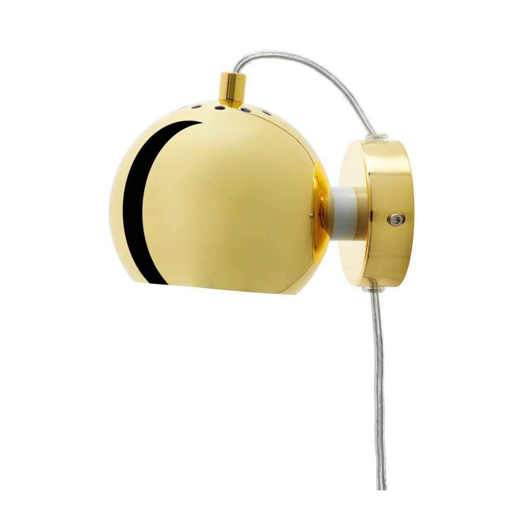 Frandsen Ball magnet wandlamp, Licht glossy goud