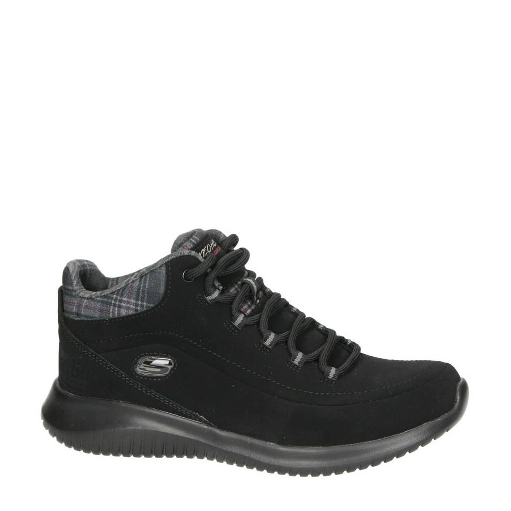 Skechers   wandelschoenen zwart, Zwart
