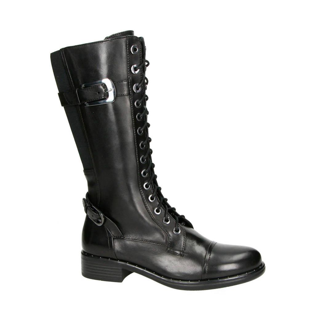 Regarde le ciel   Roxana leren laarzen zwart, Zwart
