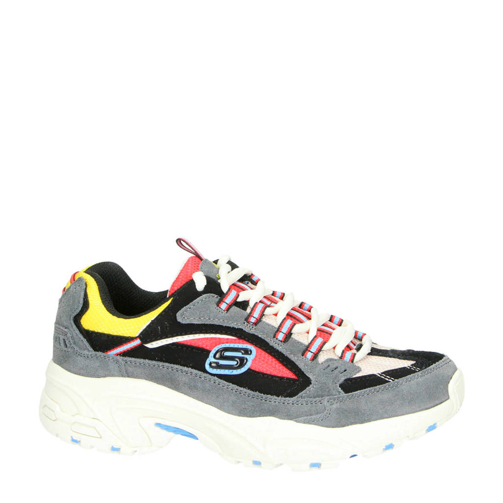 Skechers Stamin Cross Road dad sneakers grijs/multi, Grijs/multi