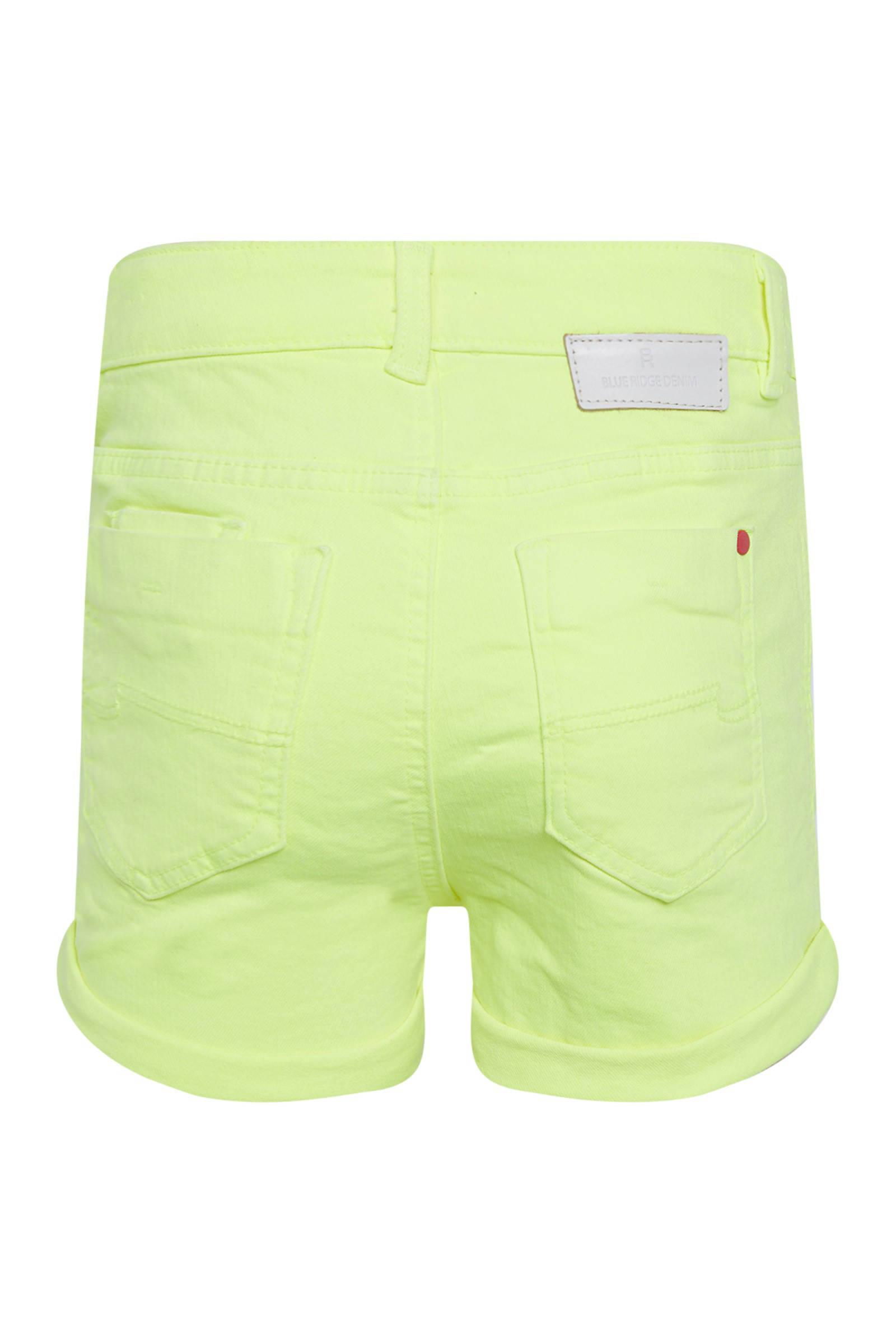WE Fashion Blue Ridge short neon geelwit   wehkamp