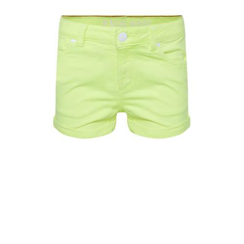 WE Fashion Blue Ridge short neon geel/wit