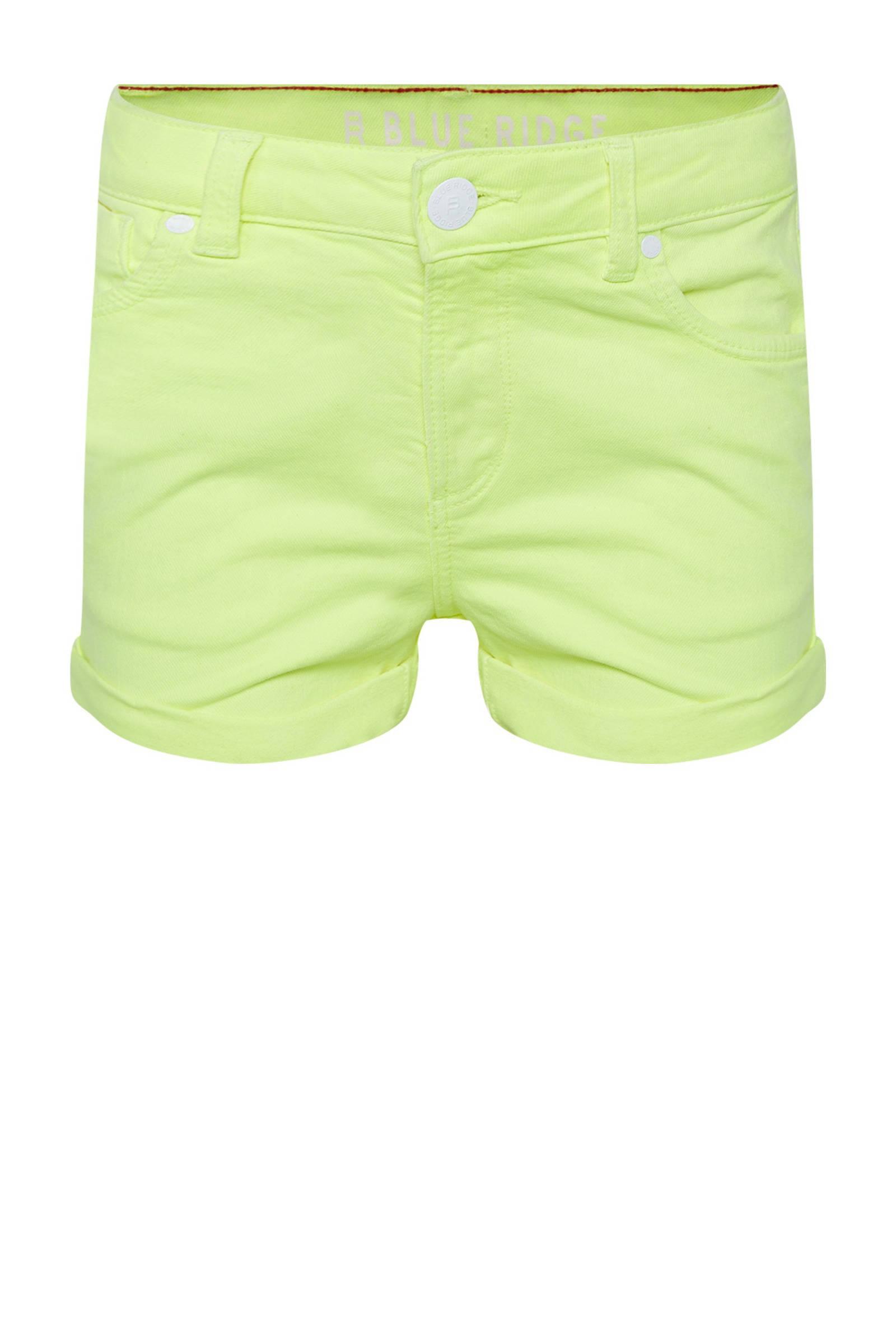 short neon geelwit