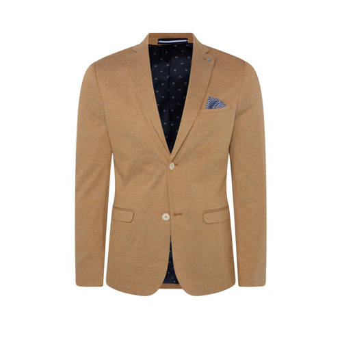 WE Fashion slim fit colbert caramel