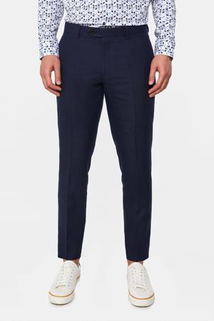 slim fit pantalon met wol royal navy