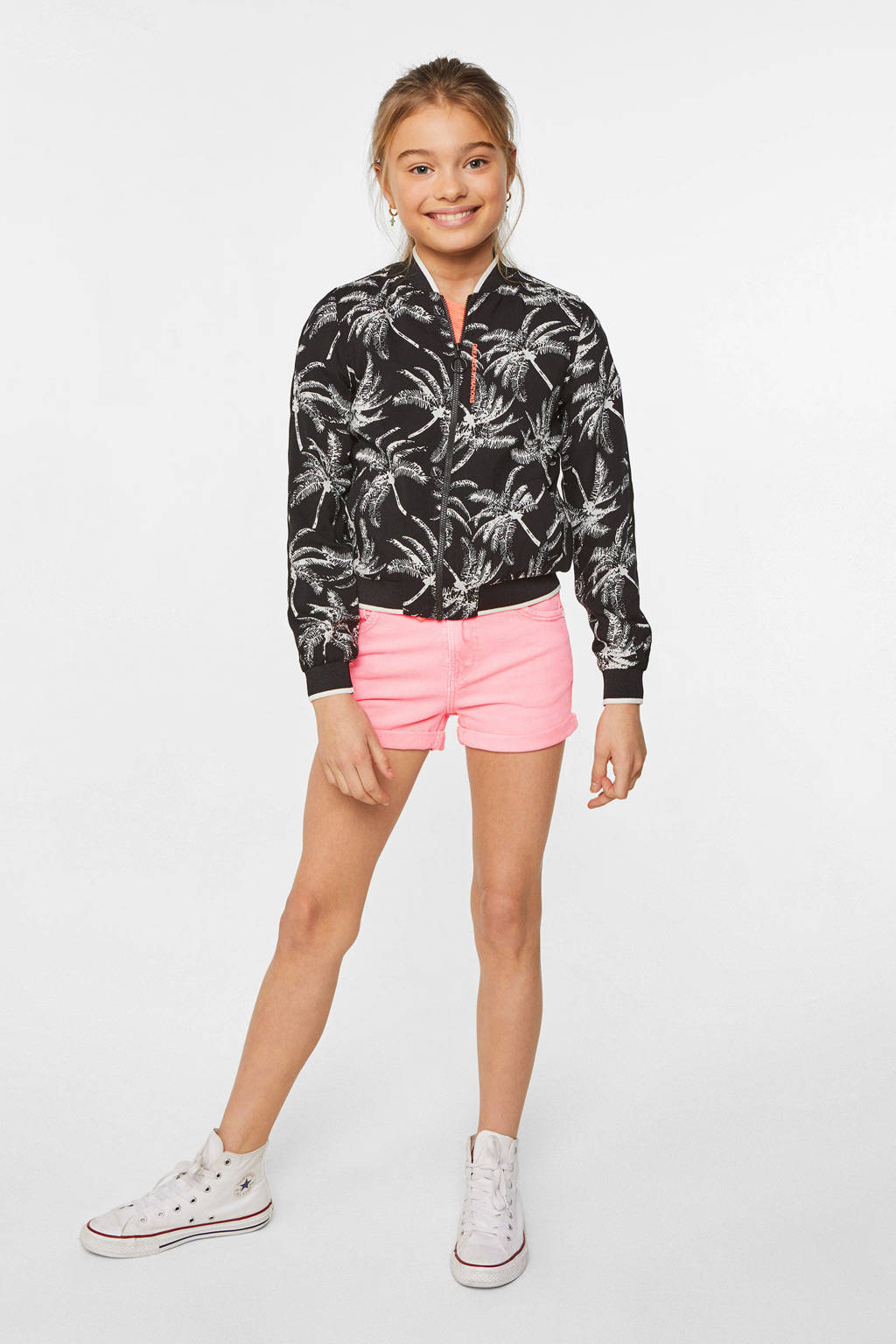 WE Fashion Blue Ridge regular fit short roze, Roze