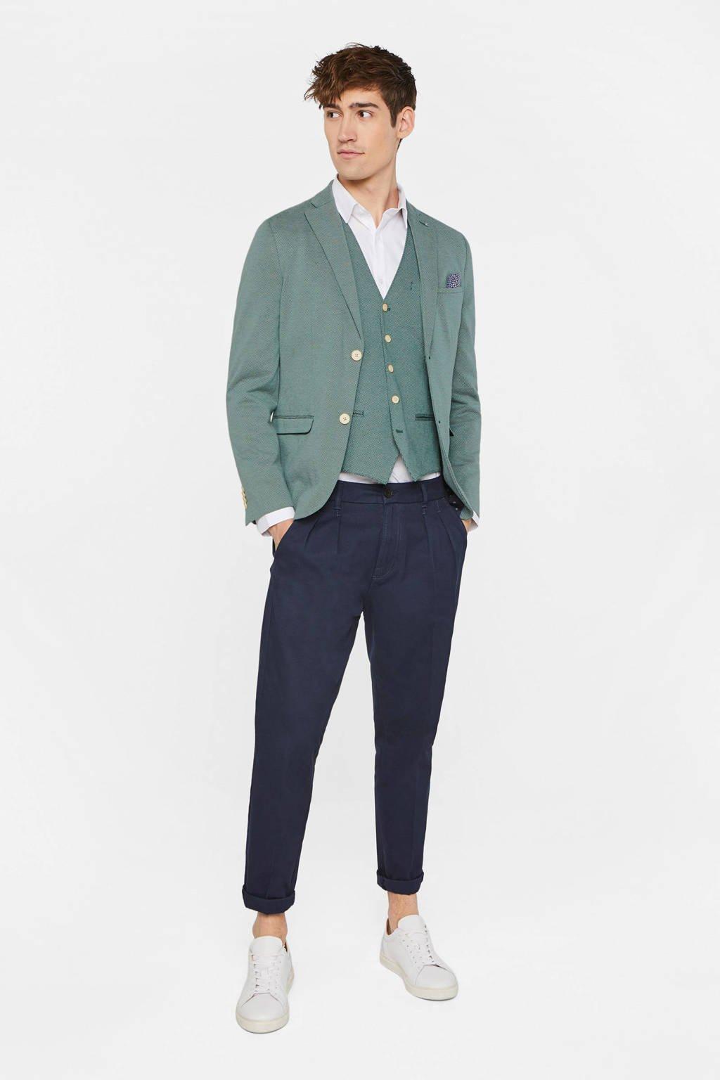 WE Fashion slim fit colbert groen, Groen