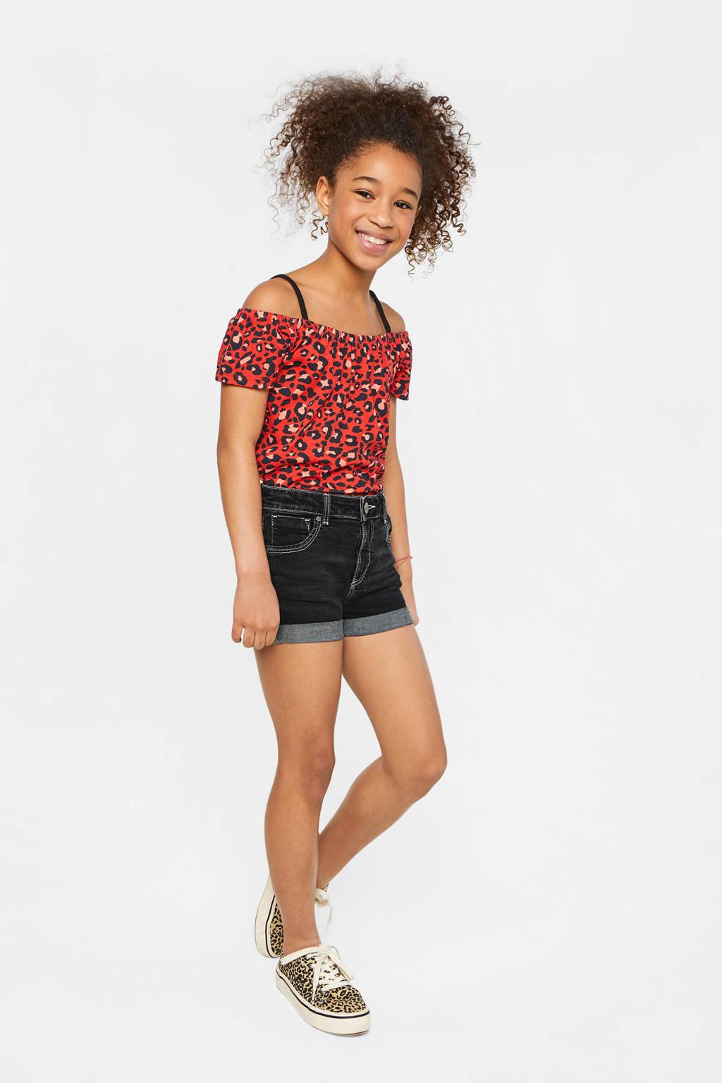 WE Fashion Blue Ridge jeans short dark denim, Dark denim