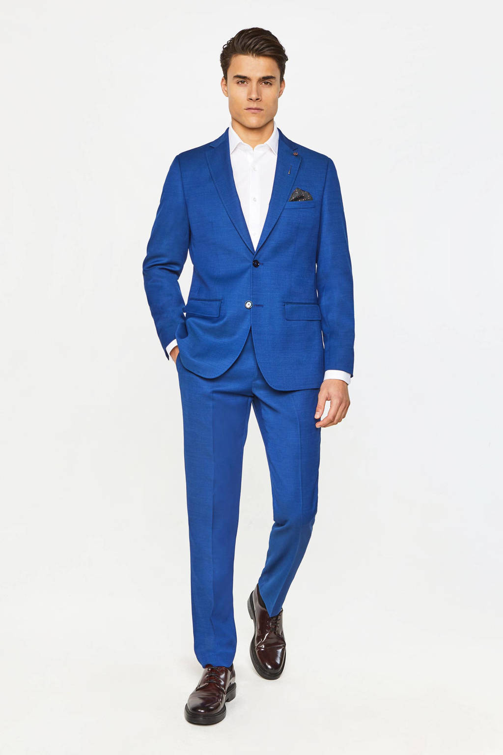 WE Fashion slim fit colbert intense blue, Intense Blue