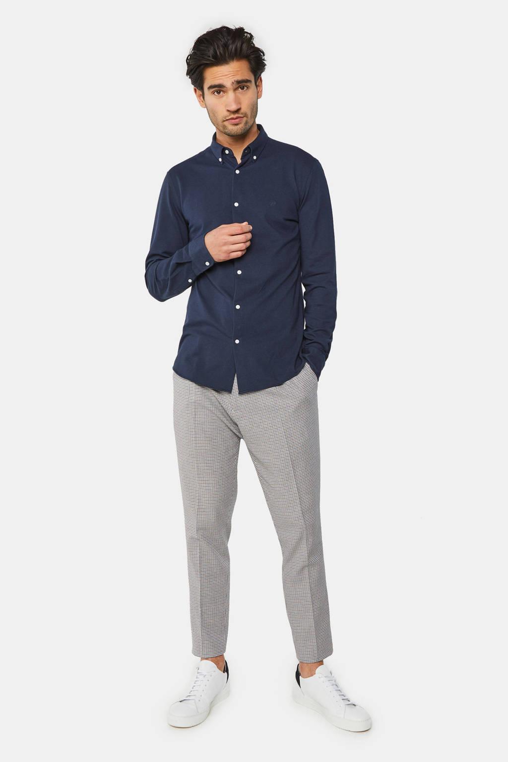 WE Fashion regular fit overhemd donkerblauw, Donkerblauw