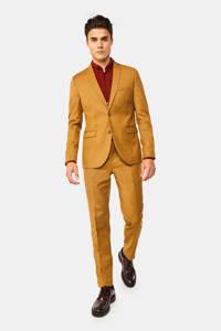 WE Fashion slim fit colbert geel, Geel