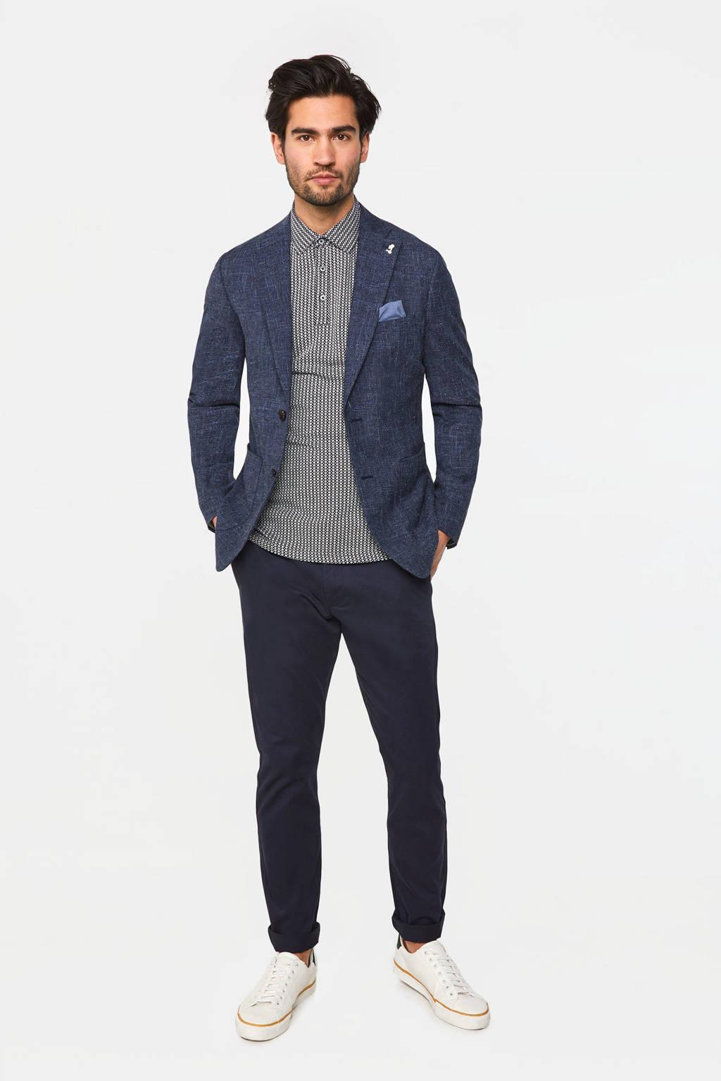 WE Fashion slim fit colbert met wol royal navy, Royal Navy