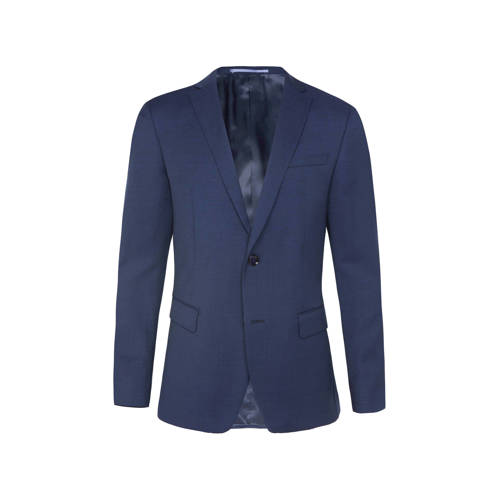 WE Fashion gem??leerd slim fit colbert donkerblauw