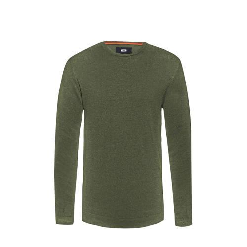 WE Fashion Fundamental trui green khaki