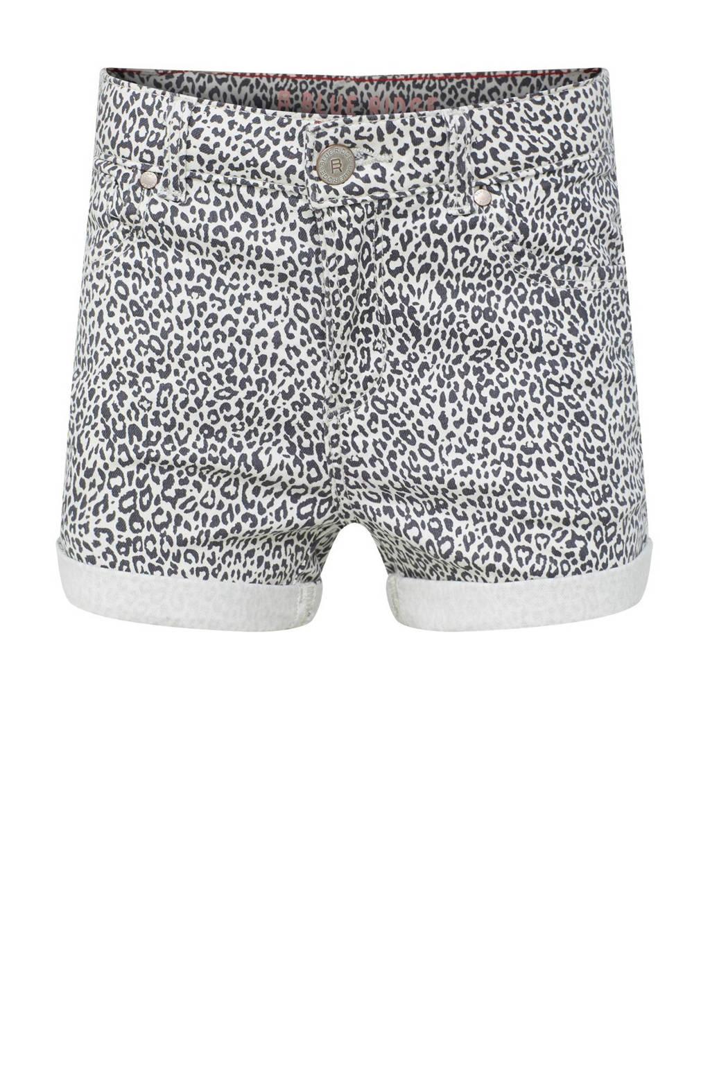 Ongebruikt WE Fashion Blue Ridge korte broek met panterprint wit/zwart | wehkamp BA-35