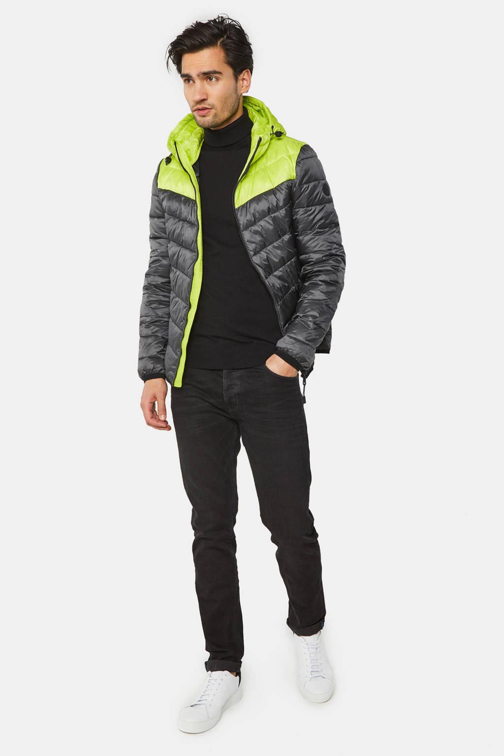 WE Fashion zomerjas zwart/lime groen, Zwart/Lime Groen