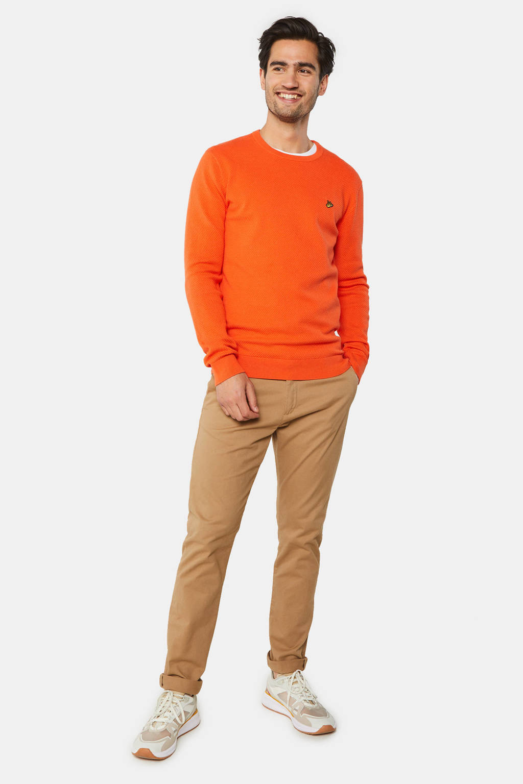 WE Fashion gemêleerde trui orange, Orange