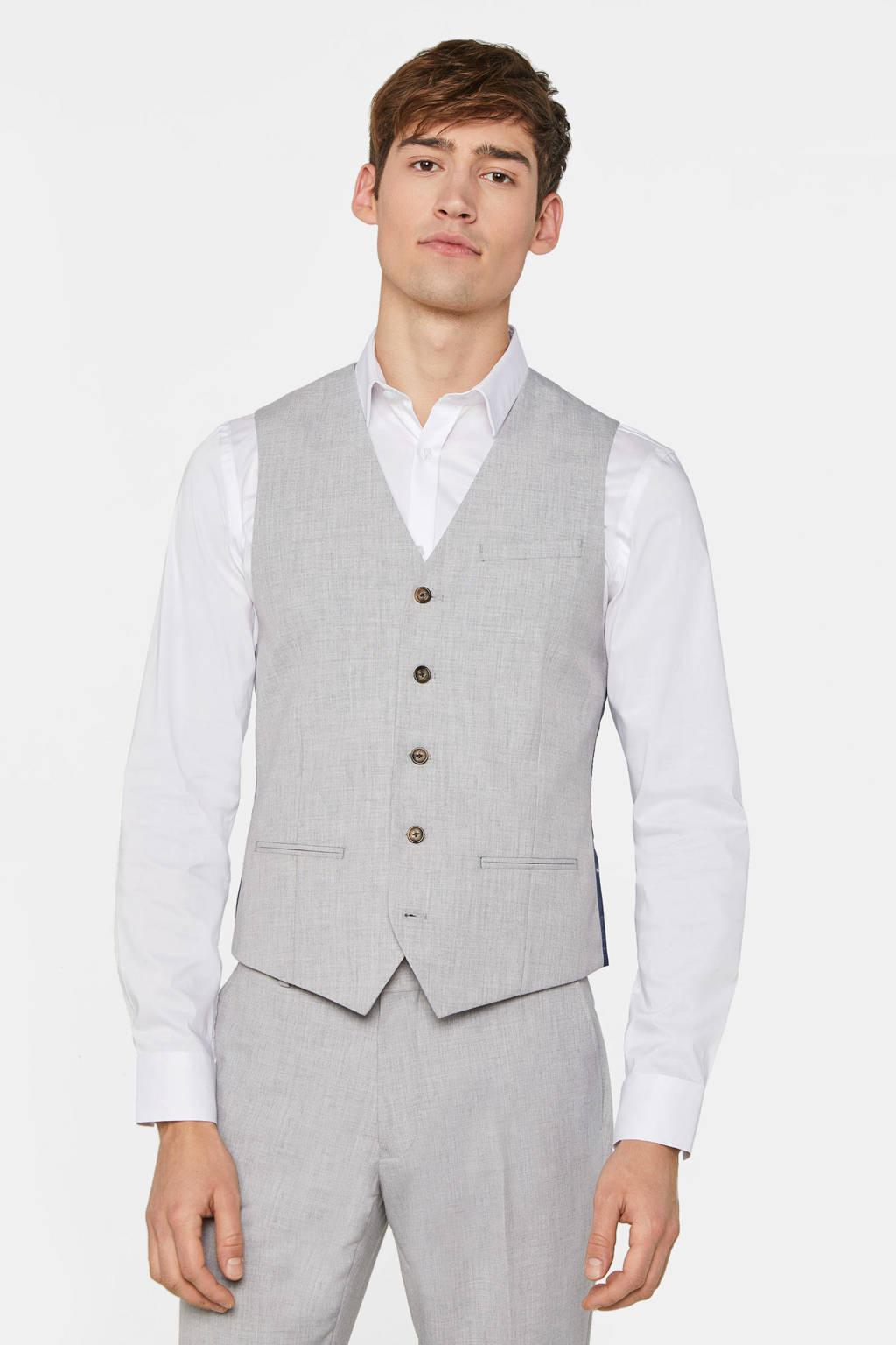 WE Fashion gilet light grey melange, Light Grey Melange