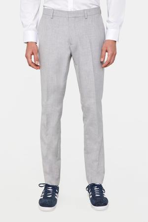 slim fit pantalon light grey melange