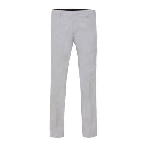 WE Fashion slim fit pantalon light grey melange