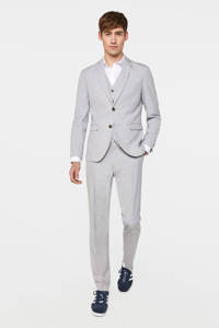 WE Fashion slim fit colbert light grey melange, Light Grey Melange