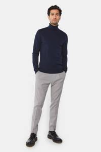 WE Fashion geruite regular fit pantalon sesame, Sesame
