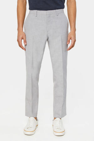 gemêleerde regular fit pantalon light grey melange
