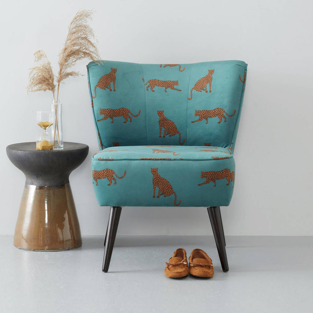 whkmp's own fauteuil Coco velours, Blauw