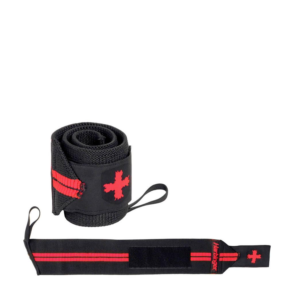 "Harbinger Wrist Wraps - Red Line wrist wrap 18"", Zwart/rood"