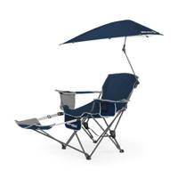 Sport-Brella  Verstelbare Campingstoel - Strandstoel met Parasol - Blauw, Donkerblauw