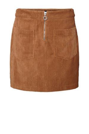 corduroy rok bruin
