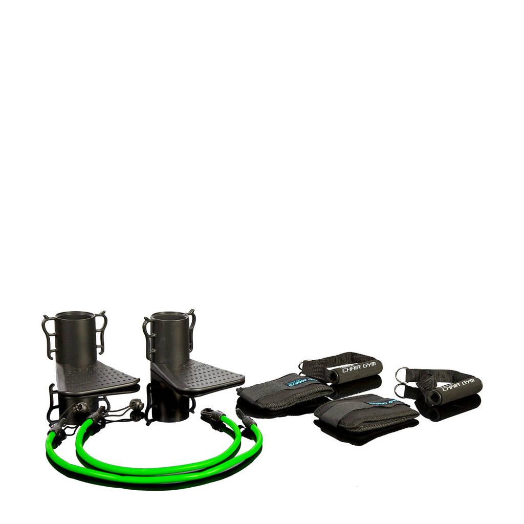 Gymstick Chair Gym met trainingsvideo's, Zwart/groen