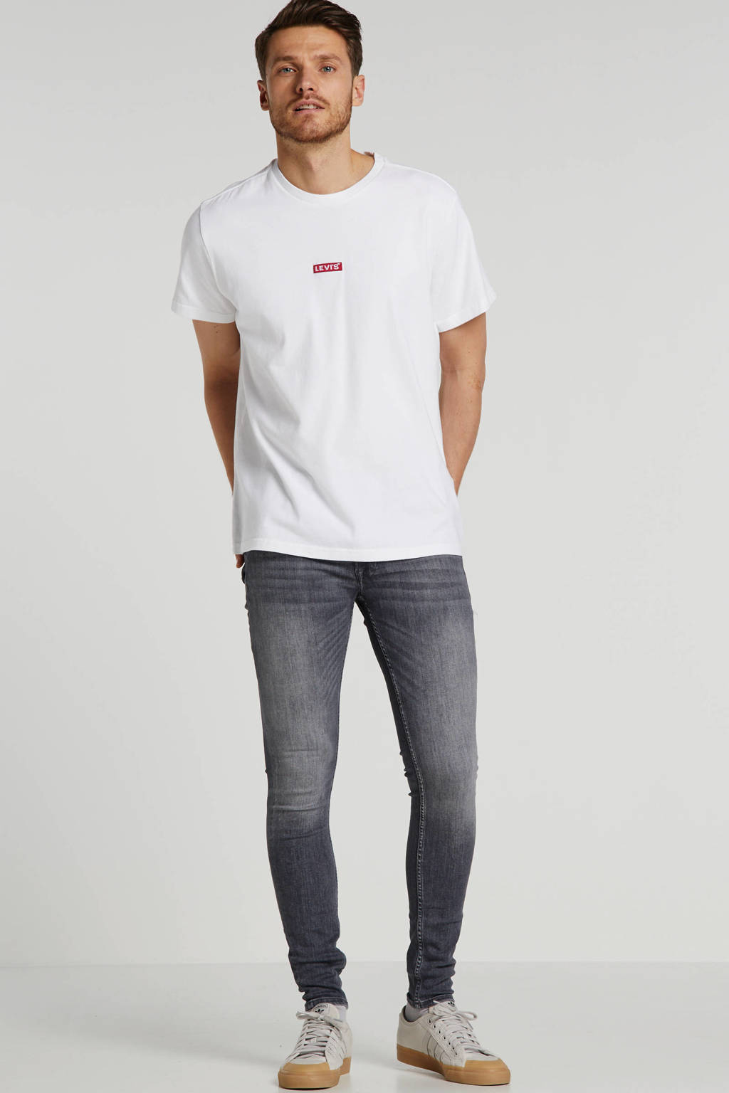 JACK & JONES JEANS INTELLIGENCE super skinny jeans Tom grey denim, Grey denim