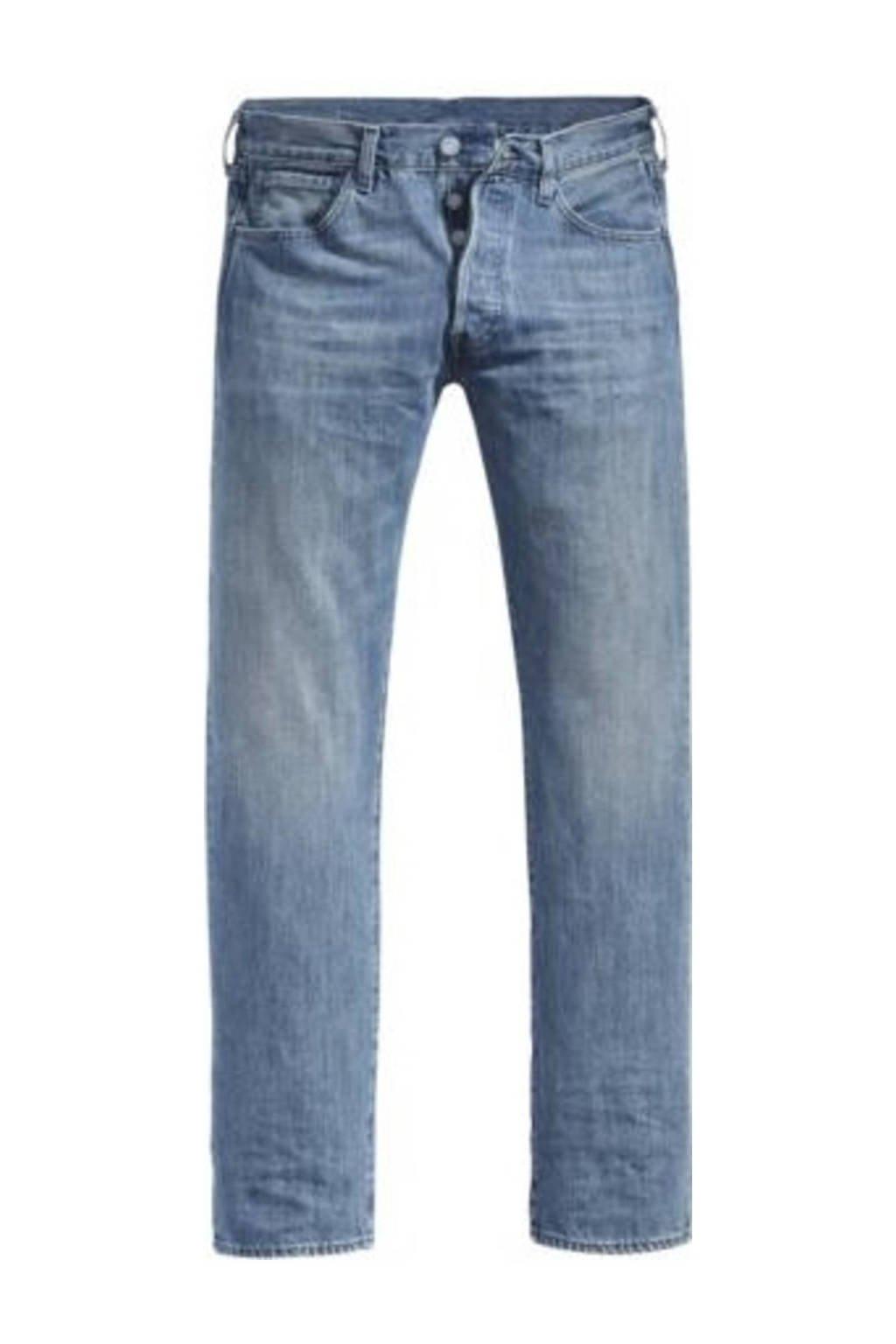 Levi's Big and Tall straight fit jeans 501 light indigo worn in, T.B. Light Indigo - Worn In
