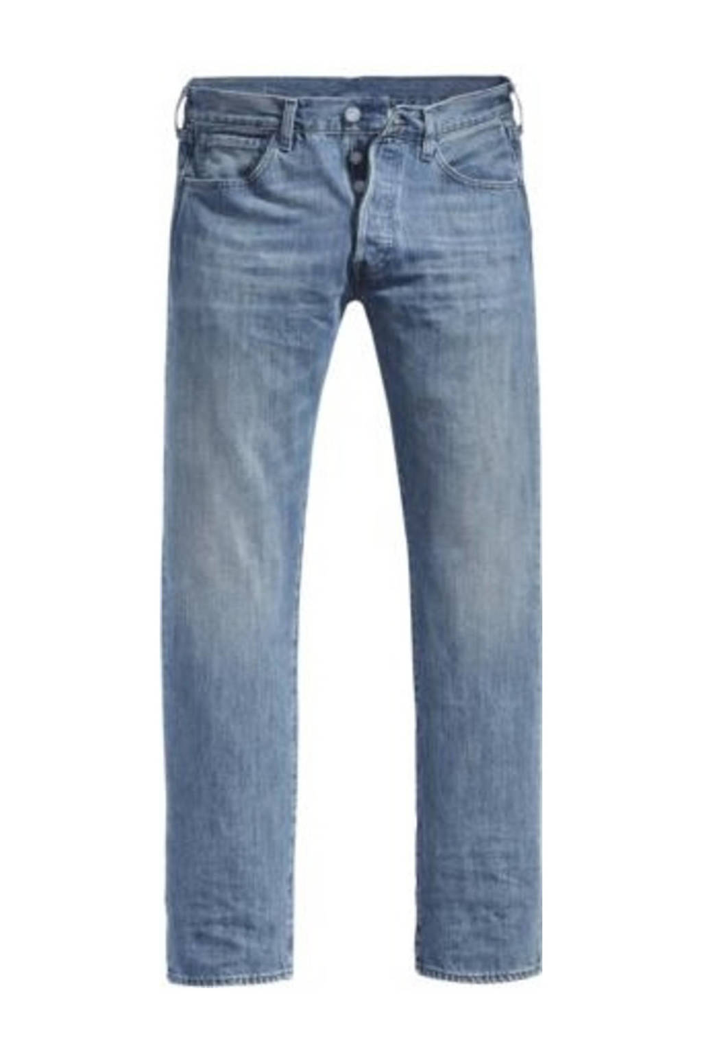 Levi's Big and Tall straight fit jeans 501 t.b. light indigo - worn in, T.B. Light Indigo - Worn In